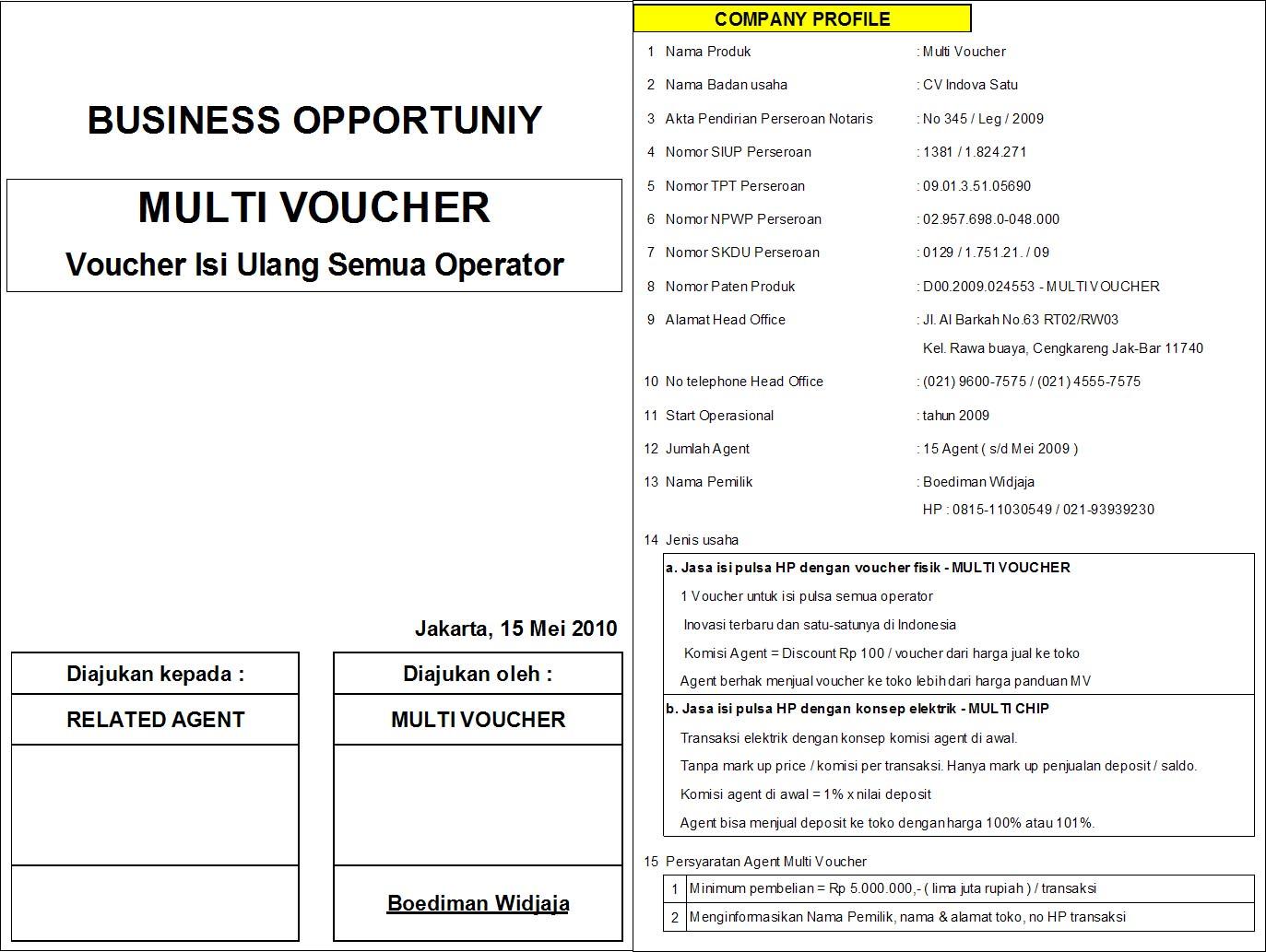 Multi Voucher Distributor Fisik Operator Xl Profile Mv 17 Mei 2010